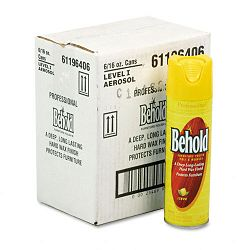 Professional Behold Furniture Polish Lemon Scent 16-oz Aerosol Cans Carton of 6 (JNS96406CT)