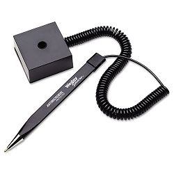 Wedgy Ballpoint Stick Coil Pen with Square Base Black Ink Fine (MMF25828504)