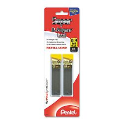Super Hi-Polymer Lead Refills 0.9mm HB Black 2 Tubes of 30 60Pack (PENC29BPHB2)