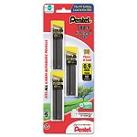 Super Hi-Polymer Lead Refills 0.9mm HB Black 3 Tubes of 30 90Pack (PENC29BPHB3)
