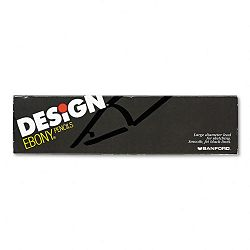 Design EBONY Sketching Pencil Black Matte Barrel Pack of 12 (SAN14420)