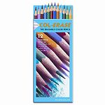 Col-Erase Colored Woodcase Pencils with Eraser 12 Assorted ColorsSet (SAN20516)