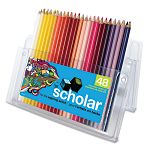 Scholar Colored Woodcase Pencils 48 Assorted ColorsSet (SAN92807)