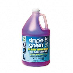 Clean Building Glass Cleaner Concentrate Unscented 1 Gallon Bottle (SPG11301)