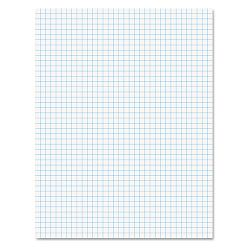 15lb Quadrille Pad with 4 SquaresInch Letter White 1 50-Sheet PadPack (AMP22030C)
