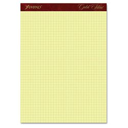 "Gold Fibre Canary Quadrille Pad 8-12"" x 11-34"" Canary 50 SheetsPad (AMP22143)"
