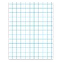 20lb Quadrille Pad with 4 SquaresInch Ltr White 1 50-Sheet Pad (AMP22000)