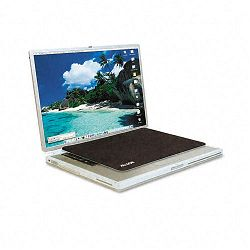 "Travel Notebook Optical Mouse Pad Nonskid Back 13"" x 9"" Black (ASP29592)"
