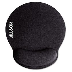 "Memory Foam Mouse Pad with Wrist Rest Black 7 14"" x 8 14"" (ASP30203)"