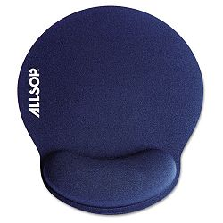 "Memory Foam Mouse Pad with Wrist Rest Blue 7 14"" x 8 14"" (ASP30206)"
