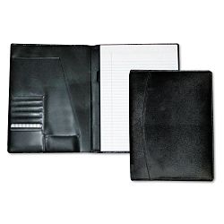 "Men's Classic Pad FolioWriting Pad 8-12"" x 11"" Black Each (BUXOC87795BK)"