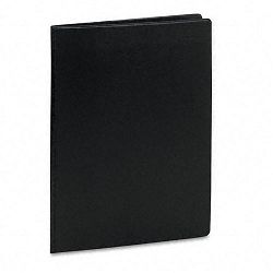 Pad Holder Semi-Flexible Sealed Vinyl Expand-A-Pocket with Card Holder Black (CRD39761)