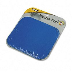 "Polyester Mouse Pad Nonskid Rubber Base 9"" x 8"" Blue (FEL58021)"