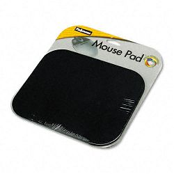 "Polyester Mouse Pad Nonskid Rubber Base 9"" x 8"" Black (FEL58024)"