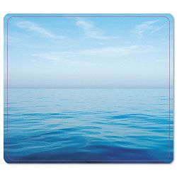 "Recycled Mouse Pad Nonskid Base 7-12"" x 9"" Blue Ocean (FEL5903901)"