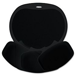 "Easy Glide Gel Mouse Pad with Wrist Rest 10"" x 12"" BlackBlack (FEL93730)"