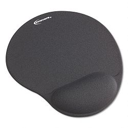 "Mouse Pad with Gel Wrist Pad Nonskid Base 10-38"" x 8-78"" Gray (IVR50449)"