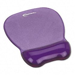 "Gel Mouse Pad with Wrist Rest Nonskid Base 8-14"" x 9-58"" Purple (IVR51440)"