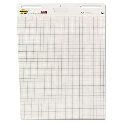"Self-Stick Easel Pads Quad Rule 25"" x 30"" White 2 30-Sheet PadsCarton (MMM560)"