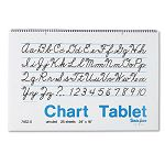 "Chart Tablets Unruled 24"" x 16"" White 25 SheetsPad (PAC74520)"