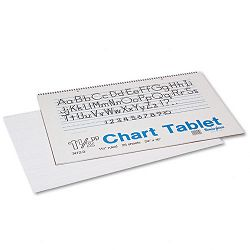 "Chart Tablets with Manuscript Cover Ruled 24"" x 16"" White 25 SheetsPad (PAC74720)"