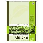 "S.A.V.E Recycled Chart Pads Unruled 24"" x 32"" White 70 Sheets (PAC945510)"