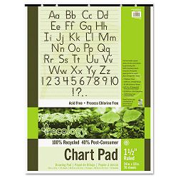 "S.A.V.E Recycled Chart Pads 1-12in Ruled 24"" x 32"" White 70 Sheets (PAC945710)"