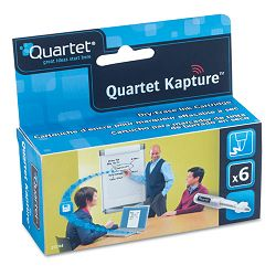 Kapture Dry-Erase Ink Refill Cartridges 6 Pack Black (QRT23704)