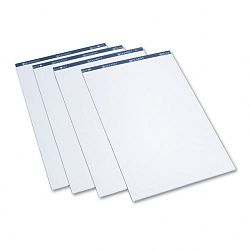 "Conference Cabinet Flipchart Pad Plain 21"" x 33-710"" White 50-Sheet 4Carton (QRTLP50)"