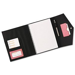 Journal Spiral Notebook Faux Leather Snap Close File Pocket Resilient Pink (ROL1734453)
