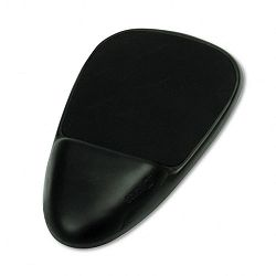 "SoftSpot Mouse Pad with Wrist Rest Nonskid Base 7-12"" x 13"" Black (SAF90108)"