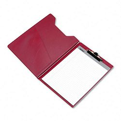 Pad Holder Heavy Vinyl Brass Clip Writing Pad Inside Pocket Burgundy (SAM71414)