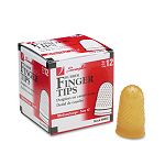 Rubber Finger Tips Size 12 MediumLarge Amber Pack of 12 (SWI54032)