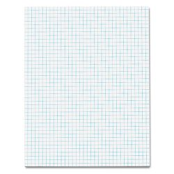 "Quadrille Pads 4 Squaresinc 8-12"" x 11"" White 50 SheetsPad (TOP33041)"