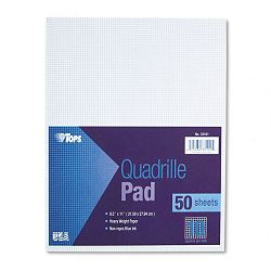 "Quadrille Pads 10 Squaresinch 8-12"" x 11"" White 50 SheetsPad (TOP33101)"