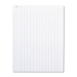"Data Pad with Plain Column Headings 8-12"" x 11"" White 50 SheetsPad (TOP3616)"