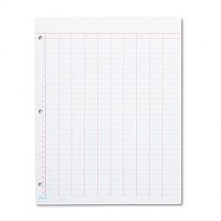 Data Pad with Numbered Column Headings Wide Rule Letter White 50 SheetsPad (TOP3619)
