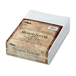 "Second Nature Recycled Scratch Pad Unruled 4"" x 6"" 12 100-Sheet PadsPack (TOP74716)"