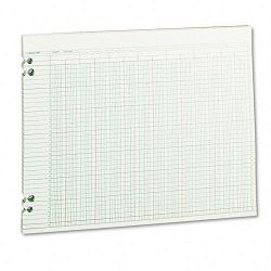 "Accounting Sheets 24 Columns 11"" x 14"" 100 Loose SheetsPack Green (WLJG3024)"