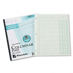 "Accounting Pad Two Eight-Unit Columns 8-12"" x 11"" 50-Sheet Pad (WLJG7202A)"