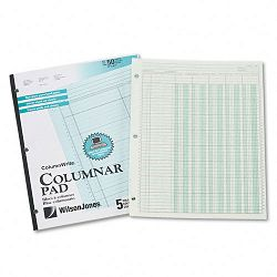 "Accounting Pad Five Eight-Unit Columns 8-12"" x 11"" 50-Sheet Pad (WLJG7205A)"