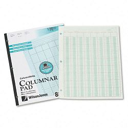 "Accounting Pad Eight Six-Unit Columns 8-12"" x 11"" 50-Sheet Pad (WLJG7208A)"