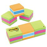"Mini Cubes 2"" x 2"" Assorted ULettera Colors 3 400-Sheet PadsPack (MMM20513PK)"