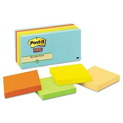 "Farmer's Market Super Sticky Notes Unlined 3"" x 3"" 12 90-Sheet PadsPack (MMM65412SSNRP)"