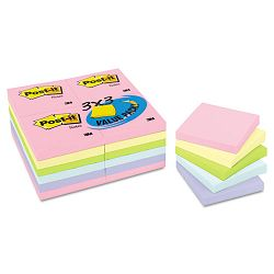 "Pastel Notes Value Pack 3"" x 3"" Assorted 24 100-Sheet PadsPack (MMM65424APVAD)"