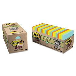 "Farmer's Market Super Sticky Notes Cabinet Pack 3"" x 3"" 24 70-Sheet PadsPack (MMM65424NHCP)"