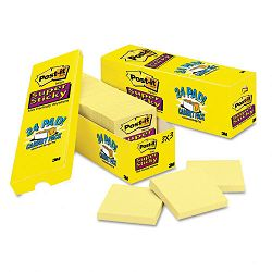 "Super Sticky Notes 3"" x 3"" Canary Yellow 24 90-Sheet PadsPack (MMM65424SSCP)"