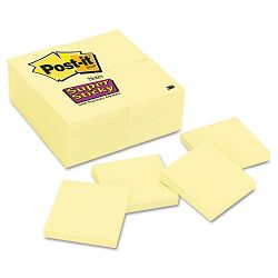 Super Sticky Notes 90 3 x 3 Sheets 24 PadsPack (MMM65424SSCY)
