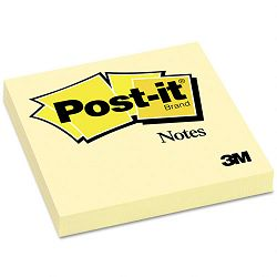 "Original Notes 3"" x 3"" Canary Yellow 12 100-Sheet PadsPack (MMM654YW)"