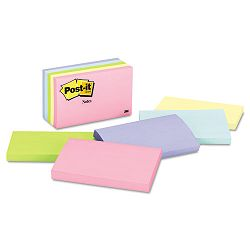 "Original Pads in Pastel Colors 3"" x 5"" Five Pastel Colors 5 100-Sheet PadsPack (MMM655AST)"